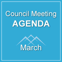 CANCELLED DUE TO WEATHER: Council Meeting Agenda March