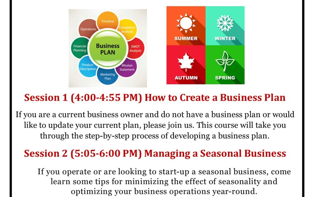 Entrepreneurship and Seasonal Business Training In Cascade!!!